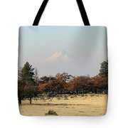 Mount Hood Over The Flats Tote Bag