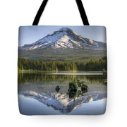 Mount Hood Reflection On Trillium Lake Tote Bag