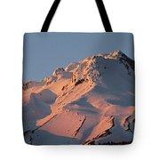 Mount Hood Sunset Glow Tote Bag
