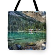 Mount Huber At Lake O'hara Tote Bag