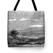 Mount Kilimanjaro, 1884 Tote Bag
