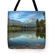 Mount Lassen From Manzanita Lake Tote Bag