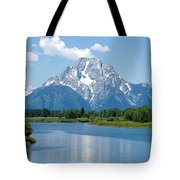 Mount Moran At Oxbow Bend Tote Bag