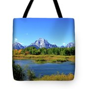 Mount Moran, Grand Tetons National Park, Wyoming  Tote Bag