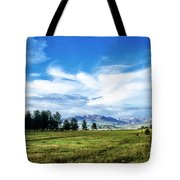 Mount Pagosa Meadow Tote Bag