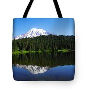 Mount Rainer Reflecting Into Reflection Lake Tote Bag