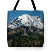 Mount Rainier - Cowilitz Chimneys  Tote Bag