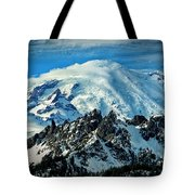 Early Snow - Mount Rainier  Tote Bag
