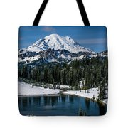 Mount Rainier - Tipsoo Lake Tote Bag