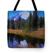 Mount Rainier And Tipsoo Lake Tote Bag