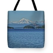 Mount Rainier From San Juan Channel Tote Bag