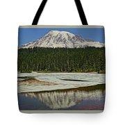 Mount Rainier Reflection Lake Tote Bag