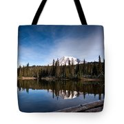 Mount Rainier Reflection Tote Bag