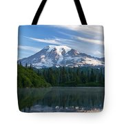 Mount Rainier Reflections Tote Bag by Greg Vaughn - Printscapes