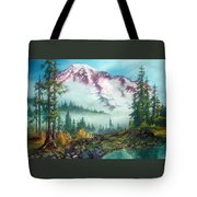 Mount Rainier Tote Bag