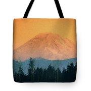 Mount Rainier, Sunset Tote Bag
