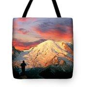 July In Washington, Mount Rainier National Park Tote Bag