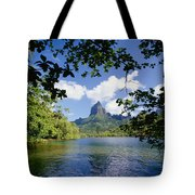 Mount Rotui From Across Opunohu Bay Tote Bag