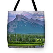 Mount Rundle Tote Bag