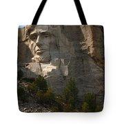Mount Rushmoore Detail - Abraham Lincoln  Tote Bag