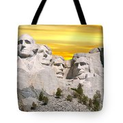 Mount Rushmore 11 Digital Art Tote Bag