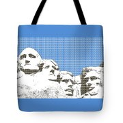 Mount Rushmore - Blue Tote Bag