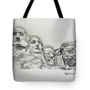 Mount Rushmore Graphite Pencil Sketch Tote Bag