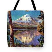 Mount Saint Helens Vintage Travel Poster Restored Tote Bag