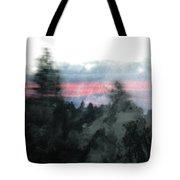 Mount Shasta Forest Sunrise Tote Bag