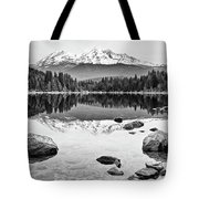 Mount Shasta From Lake Siskiyou In California Tote Bag