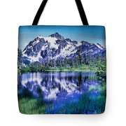 Mount Shuksan And Picture Lake Tote Bag