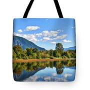 Mount Si Overlooks Mill Pond Tote Bag