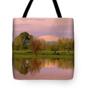 Mount St Helens Reflection During Sunset Tote Bag