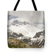 Mount Viso In The Clouds Tote Bag