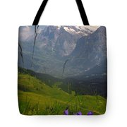 Mount Wetterhorn And The Grindelwald Tote Bag