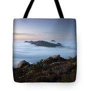 Mount Woodson Above Clouds Tote Bag