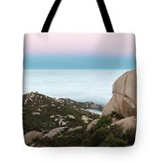 Mount Woodson Moonset Tote Bag