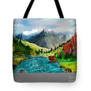 Mountaian Scene Tote Bag