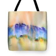 Mountain And Hill Abstract Tote Bag