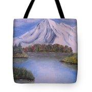 Mountain And Lake Tote Bag