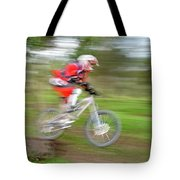 Mountain Bike Rider Tote Bag