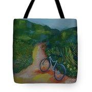Mountain Biking In The Santa Monica Mountains Tote Bag