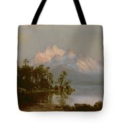 Mountain Canoeing Tote Bag
