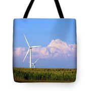 Mountain Clouds And Windmills Tote Bag