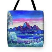 Mountain Dreams Meow Tote Bag