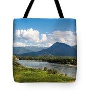 Mountain Filaretka Over Katun River. Altay Tote Bag