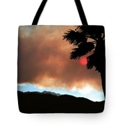 Mountain Fire Sunset Tote Bag
