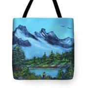 Mountain Fishing Lake Tote Bag