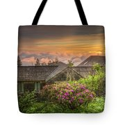 Mountain Flowers At Sunrise Tote Bag