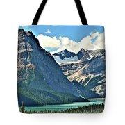 Mountain Glacier And Lake  Tote Bag